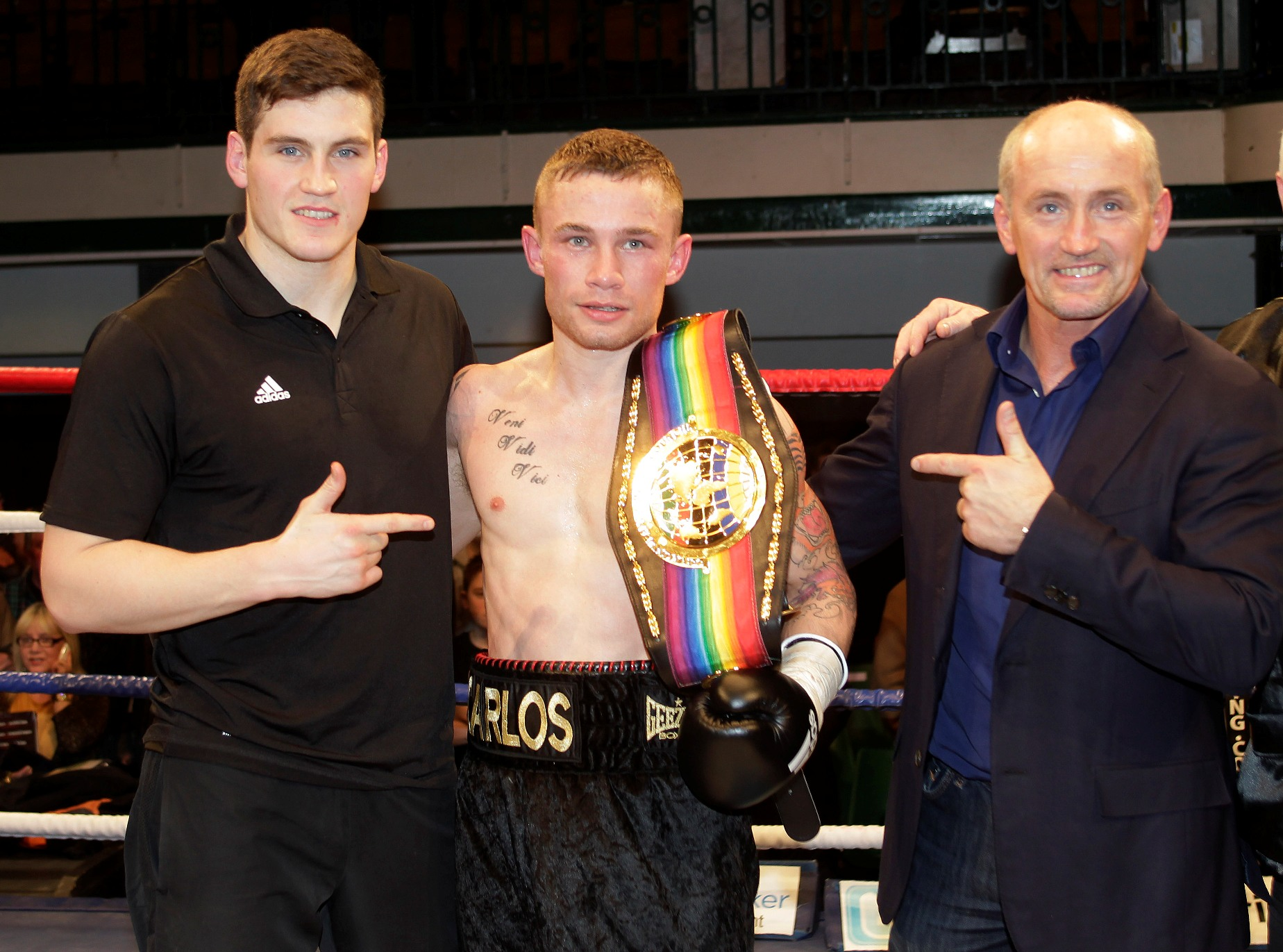 Shane McGuigan Carl Frampton and Barry McGuigan